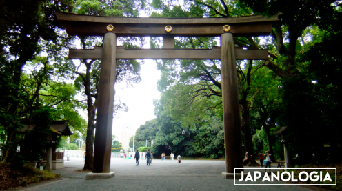 Torii gate, Meiji Jingu Shrine - Tokyo