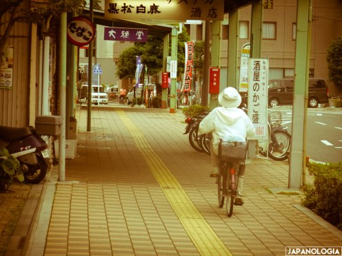 Lady in her bike, Hamamatsu